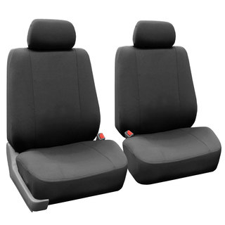 FH Group Charcoal Gray Airbag Compatible Front Bucket Covers (Set of 2)