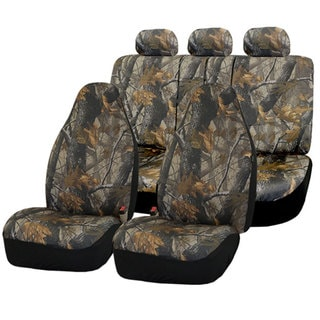 FH Group Hunting Camouflage Airbag-safe Car Seat Covers (Full Set)