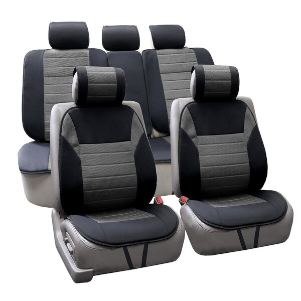 FH Group Gray Thick Foam Padding Seat Cushion Pads (Full Set)