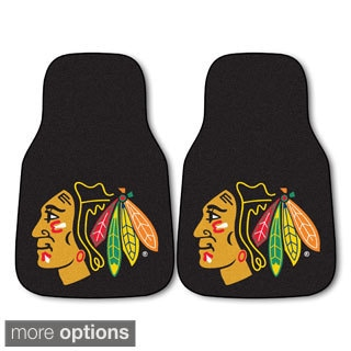 NHL Nylon Hockey Team Logo 2-piece Carpeted Car Mats