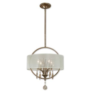 Uttermost Alenya 4-light Burnished Gold Drum Pendant