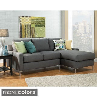 Furniture of America Anjin Contemporary Sectional with Chaise Set