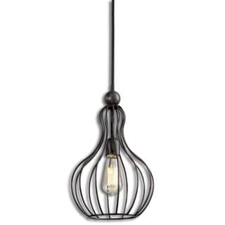 Uttermost Bourret 1-light Rust Black Pendant