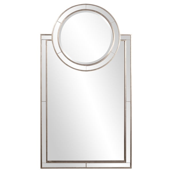 Shop neopolitan rectangle vanity mirror silver free - Silver bathroom mirror rectangular ...