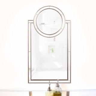 Neopolitan Rectangle Vanity Mirror - Silver