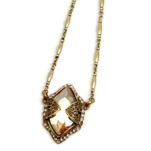 Sweet Romance Marquise Cut Crystal Hollywood Pendant Bracelet