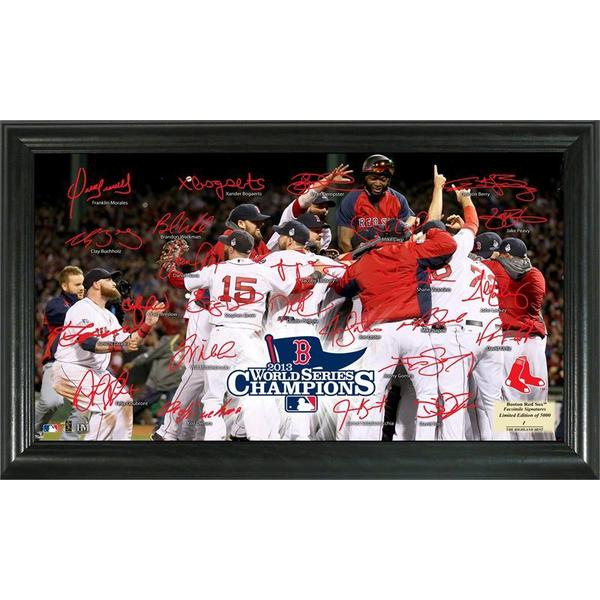 Boston Red Sox 2013 World Series Champions Celebration Signature Field