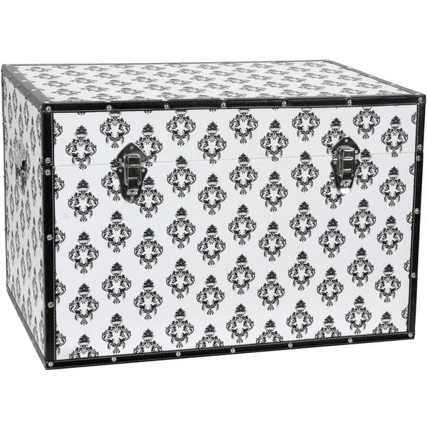 White Damask Storage Trunk
