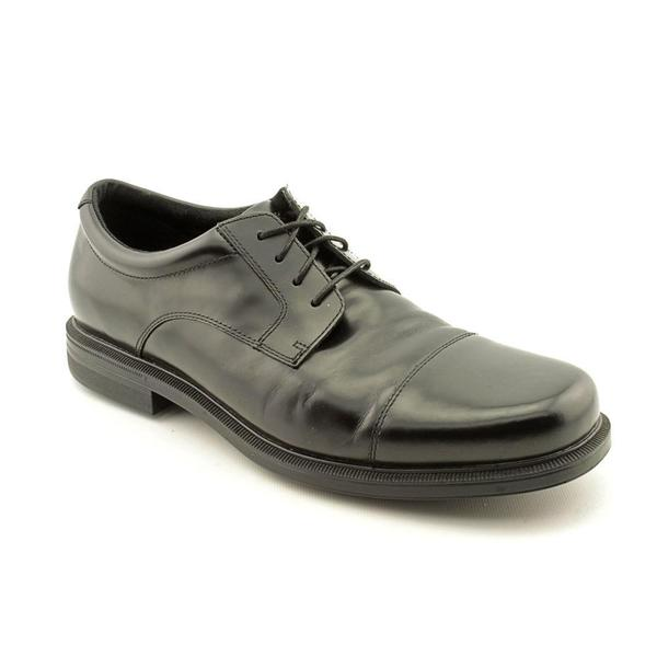 Men's Rockport Editorial Offices Cap Toe Black Full Grain Leather