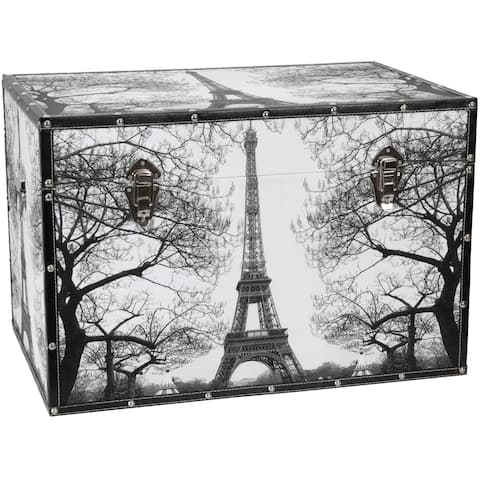 Handmade Paris Storage Trunk