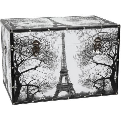 Handmade Paris Storage Trunk