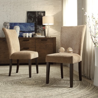 INSPIRE Q Catherine Tan Chenille Parsons Dining Chair (Set of 2)