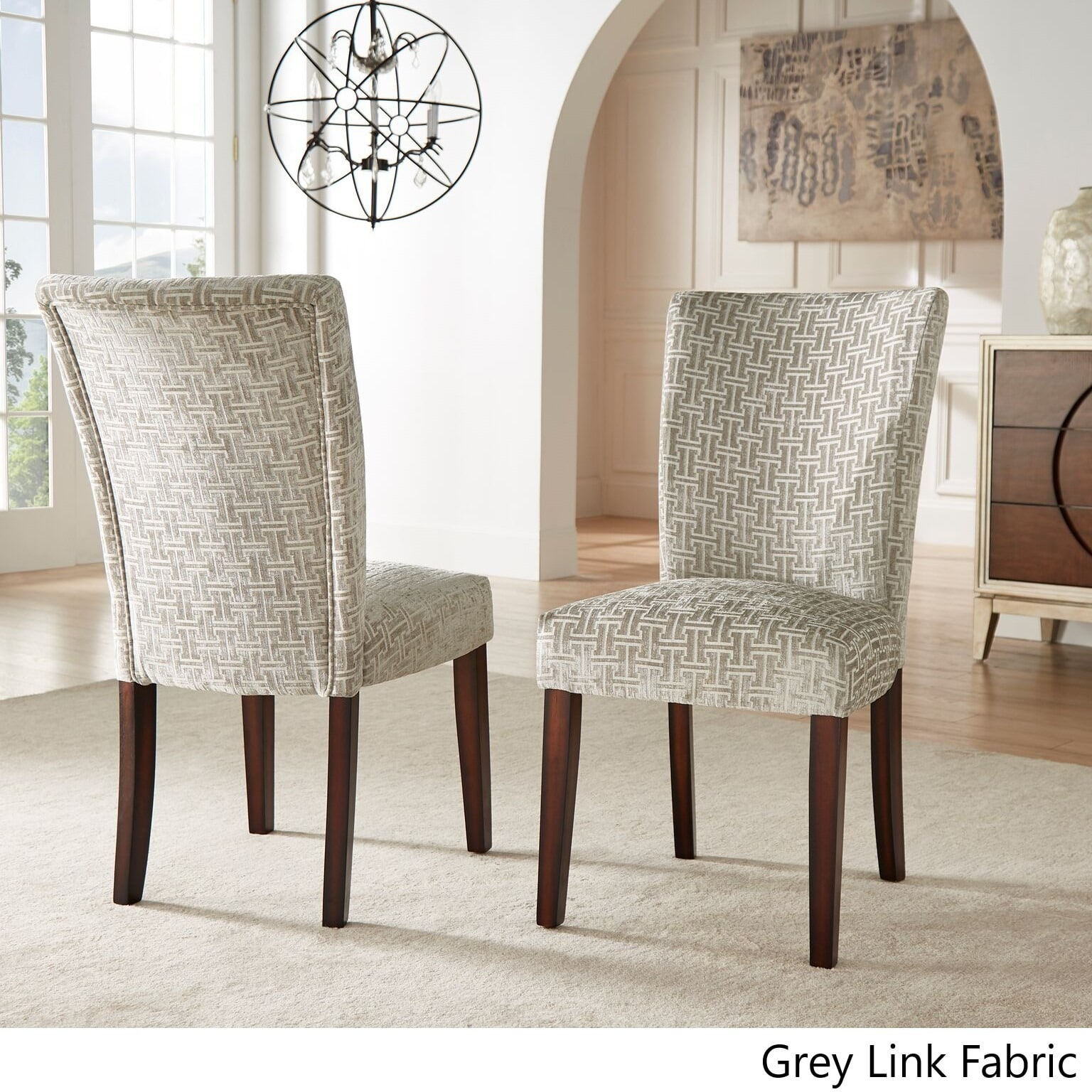 Catherine Print Parsons Dining Side Chair (Set Of 2) By Grey Link