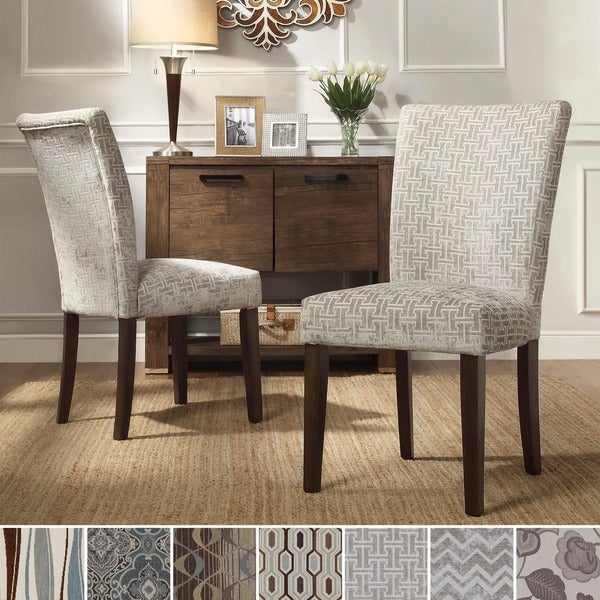 Inspire Q Catherine Print Parsons Dining Side Chair Set