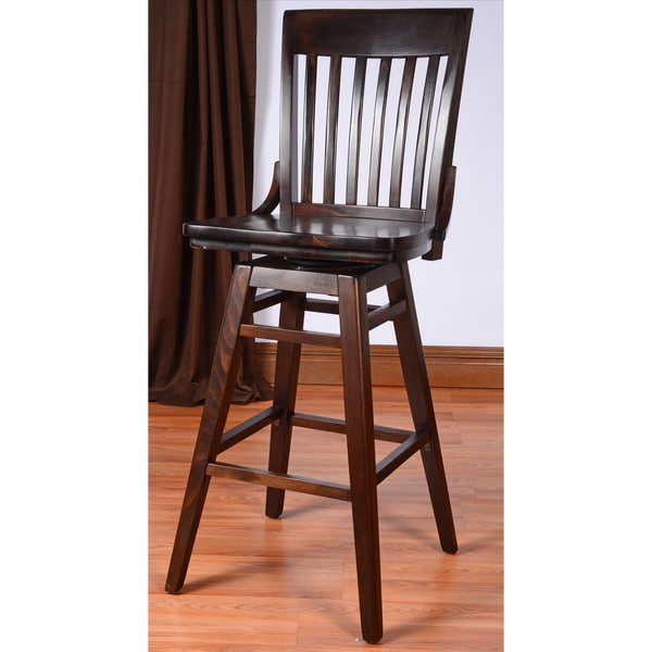 School House Swivel Bar Stool 15829591 Overstock Com