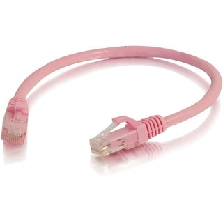 C2G 6in Cat5e Snagless Unshielded (UTP) Network Patch Cable - Pink