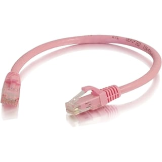 C2G 6in Cat6 Snagless Unshielded (UTP) Network Patch Cable - Pink