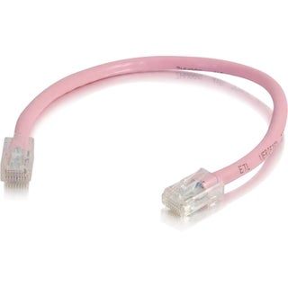 C2G 6in Cat6 Non-Booted Unshielded (UTP) Network Patch Cable - Pink