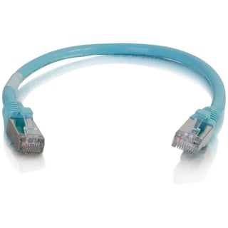 C2G 6in Cat6a Snagless Shielded (STP) Network Patch Cable - Aqua