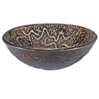 Brown Vine Glass Sink Bowl