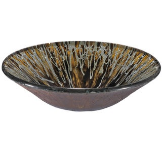 Multi-color Splatter Glass Sink Bowl