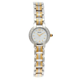 Seiko Women's SUJC43 Two-Tone Diamond Accent Watch