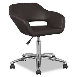 Deep Brown Upholstered Office Chair