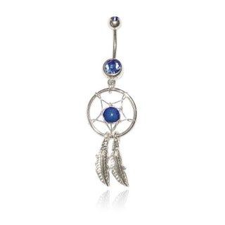 Supreme Jewelry 14G Surgical Steel Dream Catcher with Bling Belly Ring