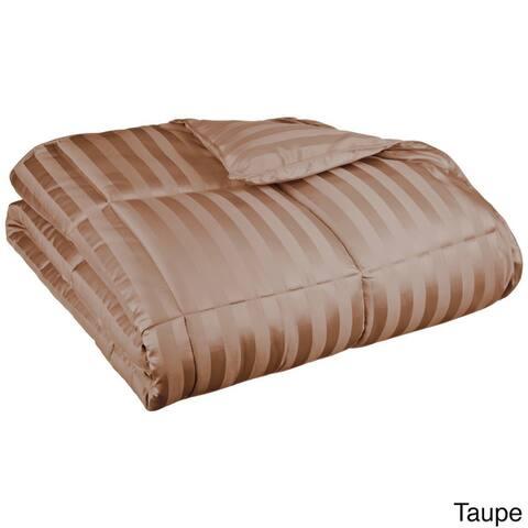 Miranda HausAll-Season Luxurious Striped Down Alternative Comforter