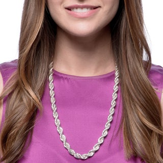 Simon Frank Designs 10mm 24-inch Gold Overlay Vintage Woven Rope Chain (4 options available)