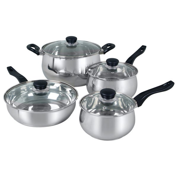 Oster Rametto 8-piece Stainless Steel Glass Top Cookware Set. Opens flyout.