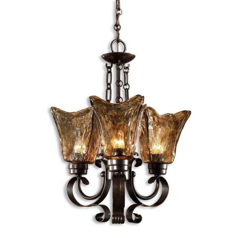 Uttermost Vetraio 3-light Oil Rubbed Bronze Chandelier