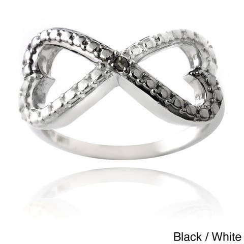 DB Designs Sterling Silver Diamond Accent Infinity Heart Ring