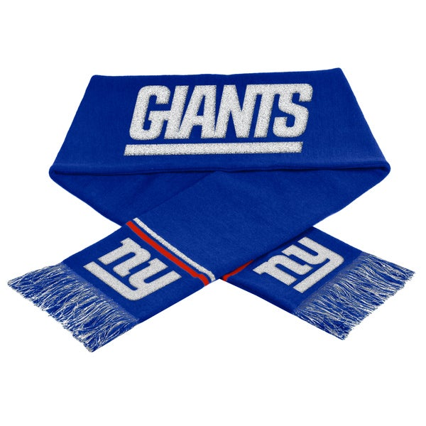 NFL New York Giants Woven Metallic Scarf