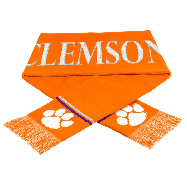 Forever Collectibles NCAA Clemson Tigers Woven Metallic Scarf