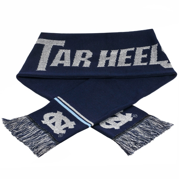 Forever Collectibles NCAA North Carolina Tarheels Woven Metallic Scarf