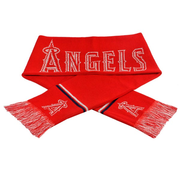 Forever Collectibles MLB Los Angeles Angels Woven Metallic Scarf