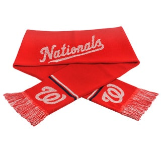 Forever Collectibles MLB Washington Nationals Woven Metallic Scarf