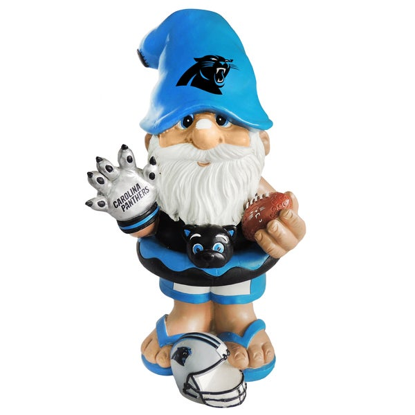 Forever Collectibles NFL Carolina Panthers 11-inch Thematic Gnome