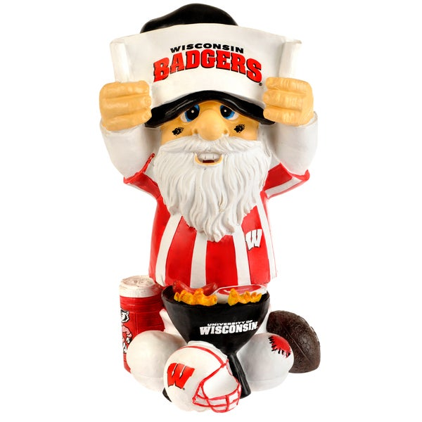 Forever Collectibles NCAA Wisconsin Badgers 11-inch Thematic Gnome