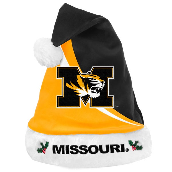 Forever Collectibles NCAA Missouri Tigers Polyester Swoop Santa Hat