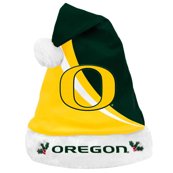 NCAA Oregon Ducks Polyester Swoop Santa Hat