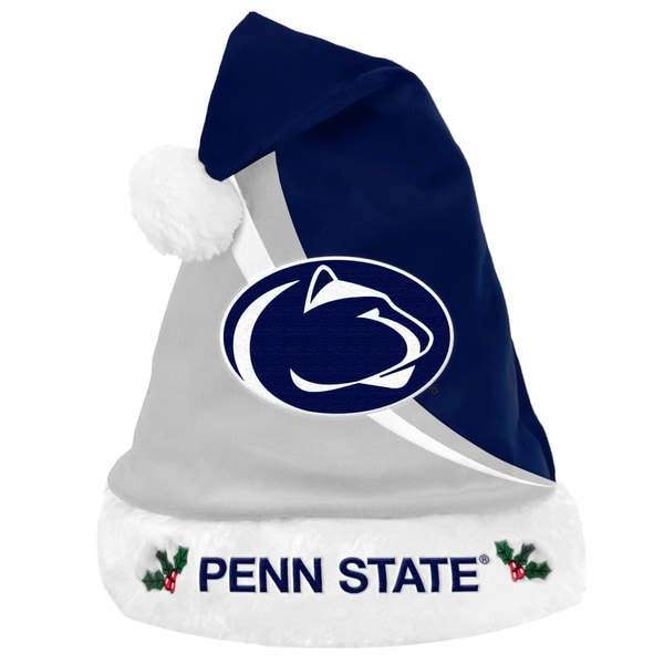 Forever Collectibles NCAA Penn State Nittany Lions Polyester Swoop Santa Hat