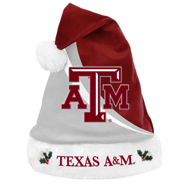 Forever Collectibles NCAA Texas AM Aggies Polyester Swoop Santa Hat