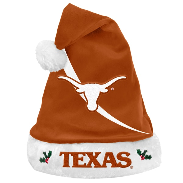 Forever Collectibles NCAA Texas Longhorns Polyester Swoop Santa Hat