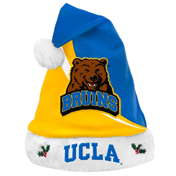 Forever Collectibles NCAA UCLA Bruins Polyester Swoop Santa Hat