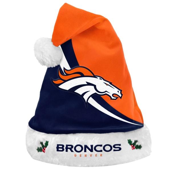NFL Denver Broncos Polyester Swoop Santa Hat