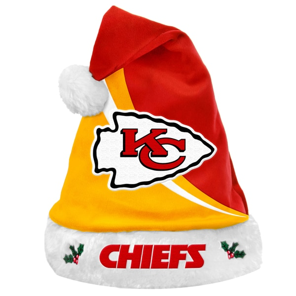 NFL Kansas City Chiefs Polyester Swoop Santa Hat