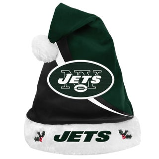 Forever Collectibles NFL New York Jets Polyester Swoop Santa Hat
