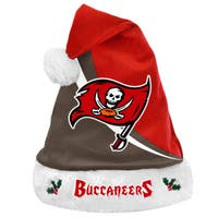 Forever Collectibles NFL Tampa Bay Buccaneers Polyester Swoop Santa Hat